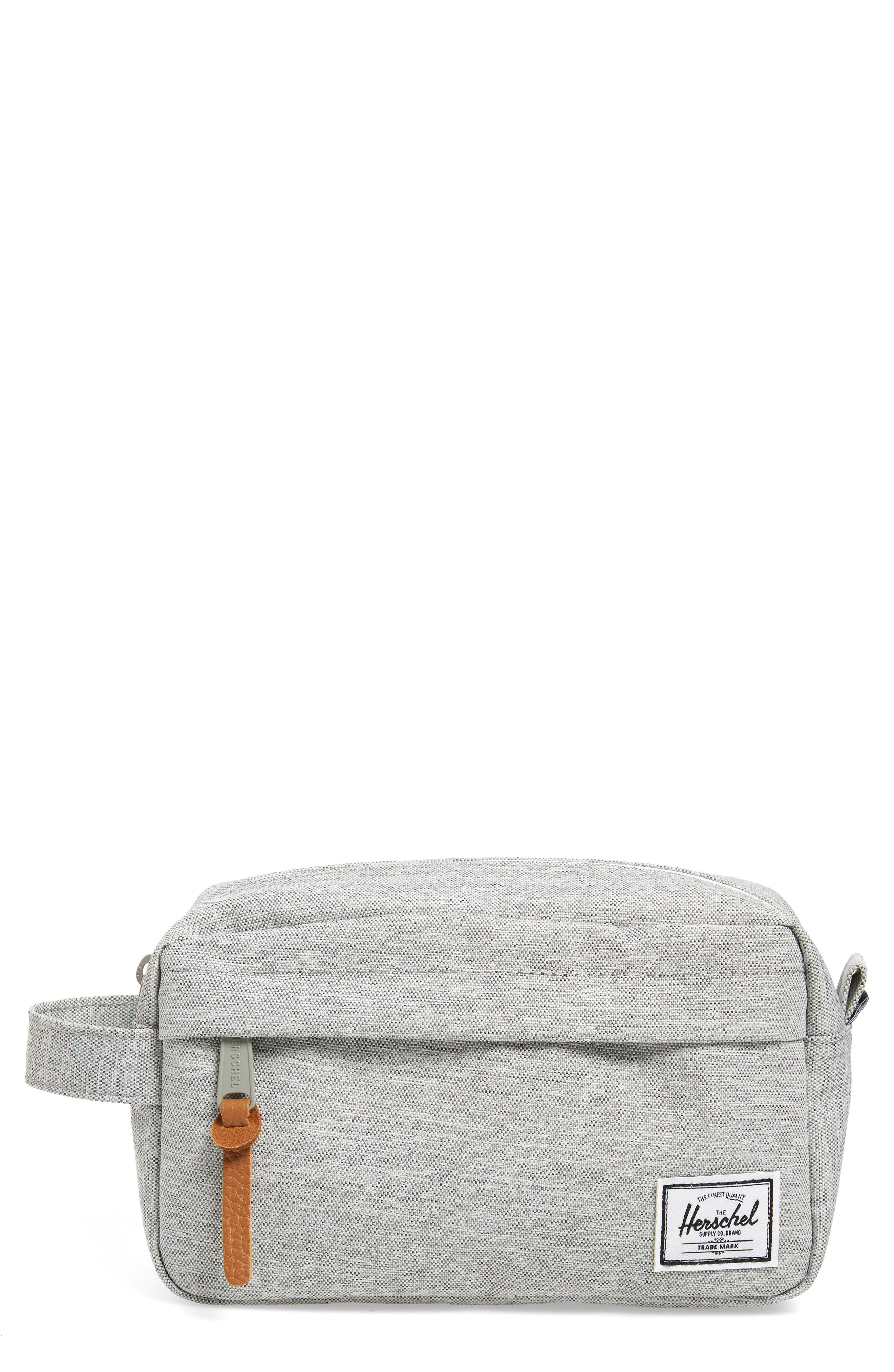 Chapter Carry-On Travel Kit,                         Main,                         color, Light Grey Crosshatch