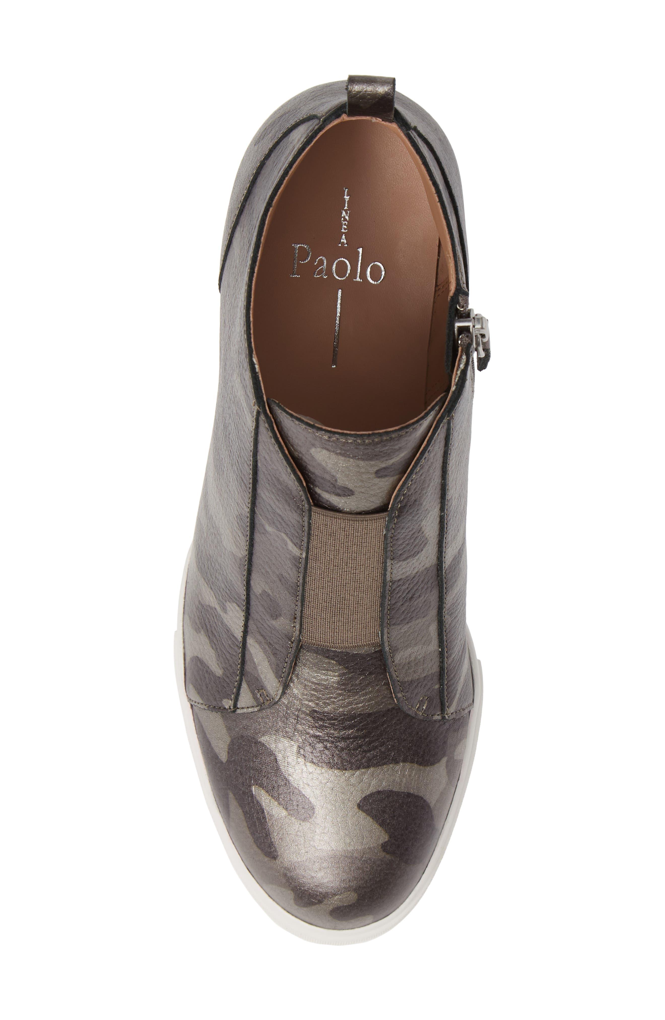 'Felicia' Wedge Bootie,                             Alternate thumbnail 6, color,                             Dark Grey Print Leather