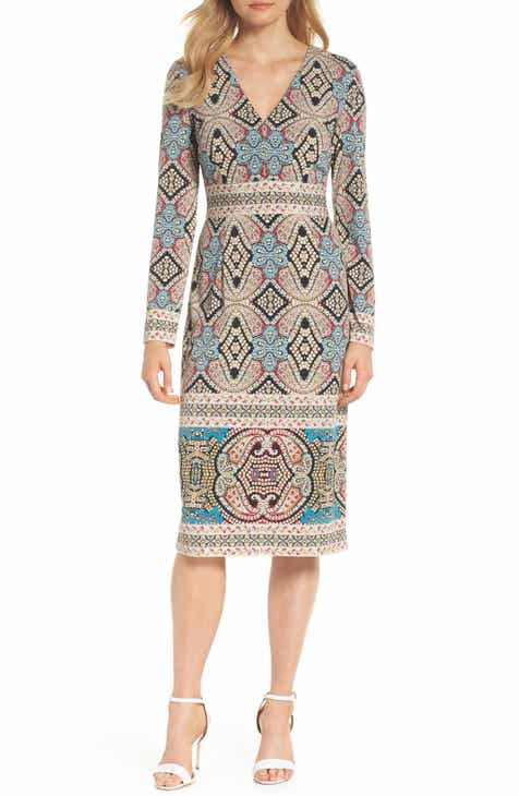 e745e863ccd Maggy London Print Matte Jersey Sheath Dress