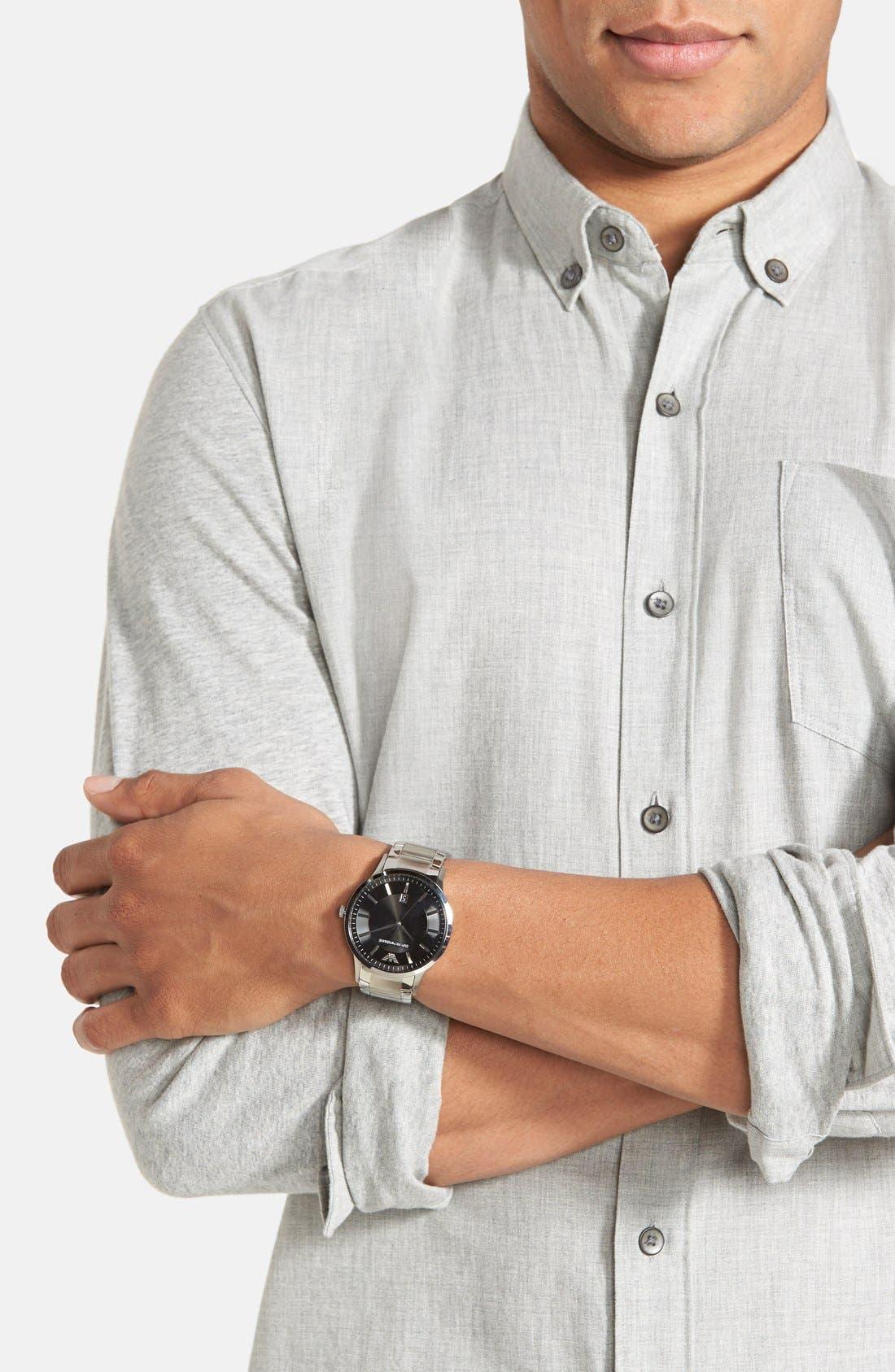 Alternate Image 3  - Emporio Armani Stainless Steel Bracelet Watch, 43mm
