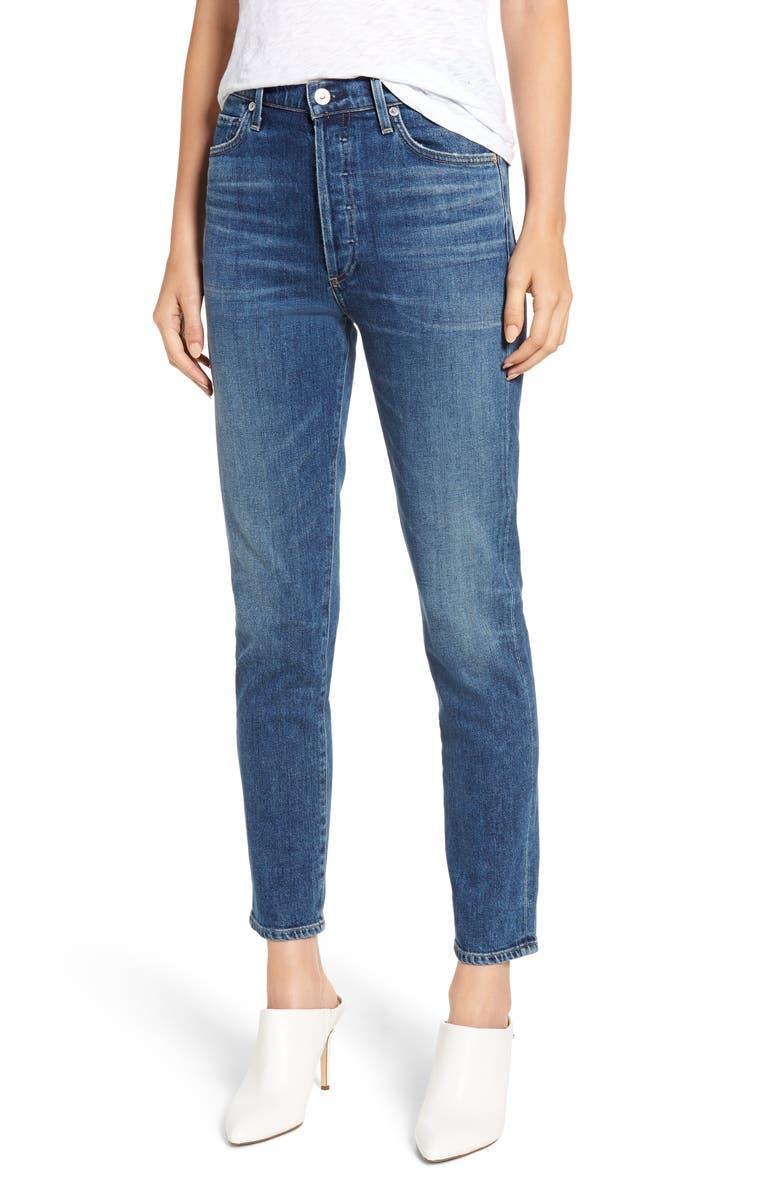 Olivia High Waist Ankle Slim Jeans
