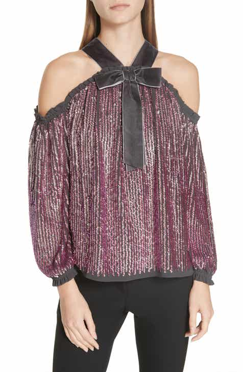 ba3a702942ab2 Needle   Thread Kaleidoscope Cold Shoulder Top