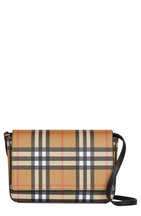 0501ded7c81d Burberry Hampshire Vintage Check Crossbody Bag