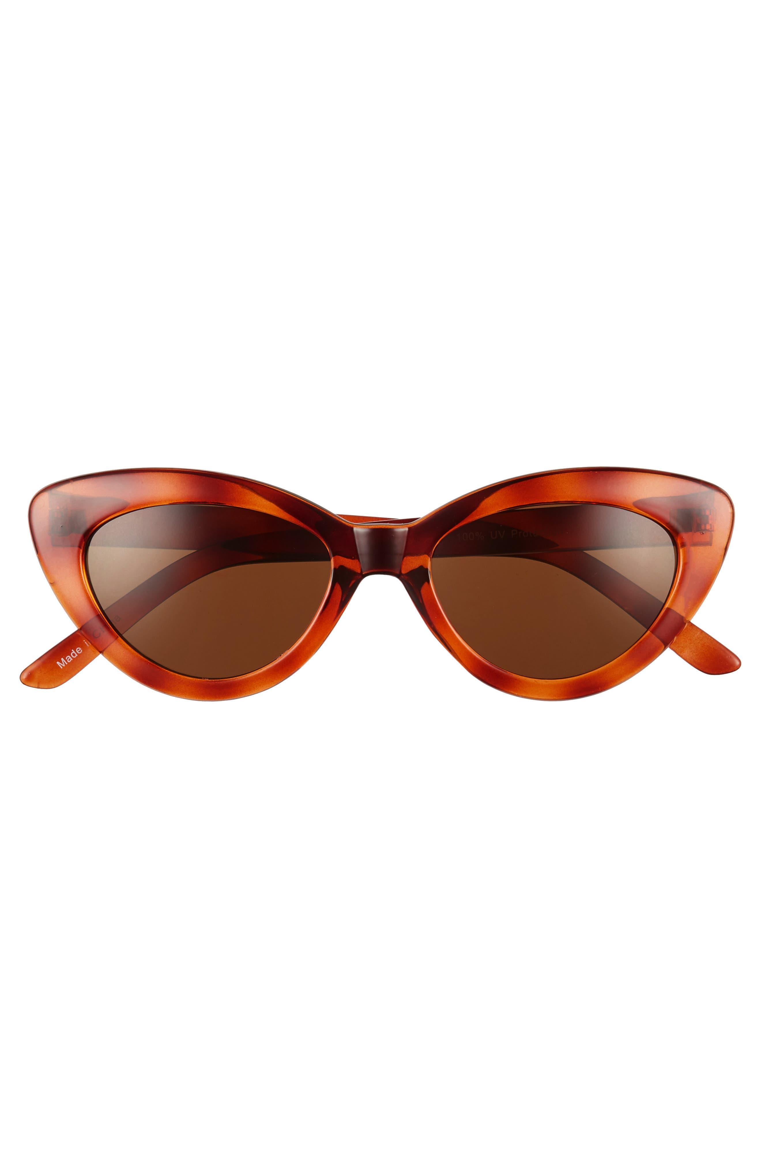 51mm Cat Eye Sunglasses,                             Alternate thumbnail 3, color,                             Tort
