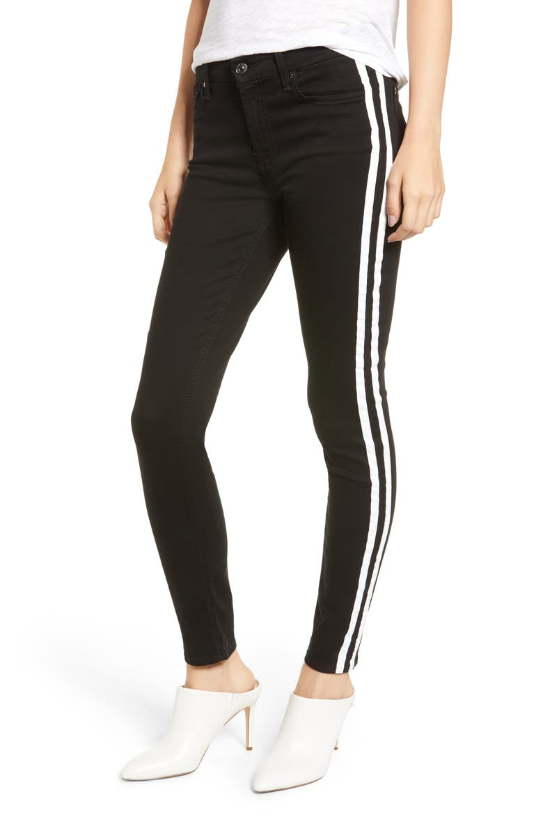b(air) Stripe Ankle Skinny Jeans