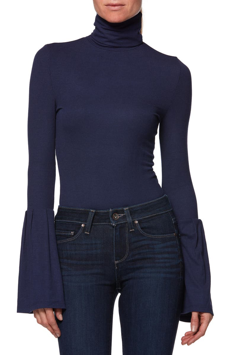 PAIGE Kenzie Bell Sleeve Turtleneck | Nordstrom