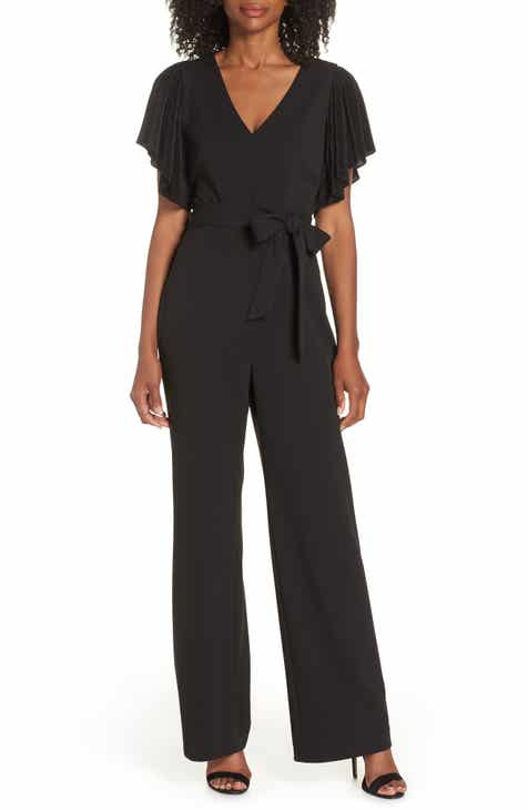 Eliza J Pleat Sleeve Jumpsuit by ELIZA J