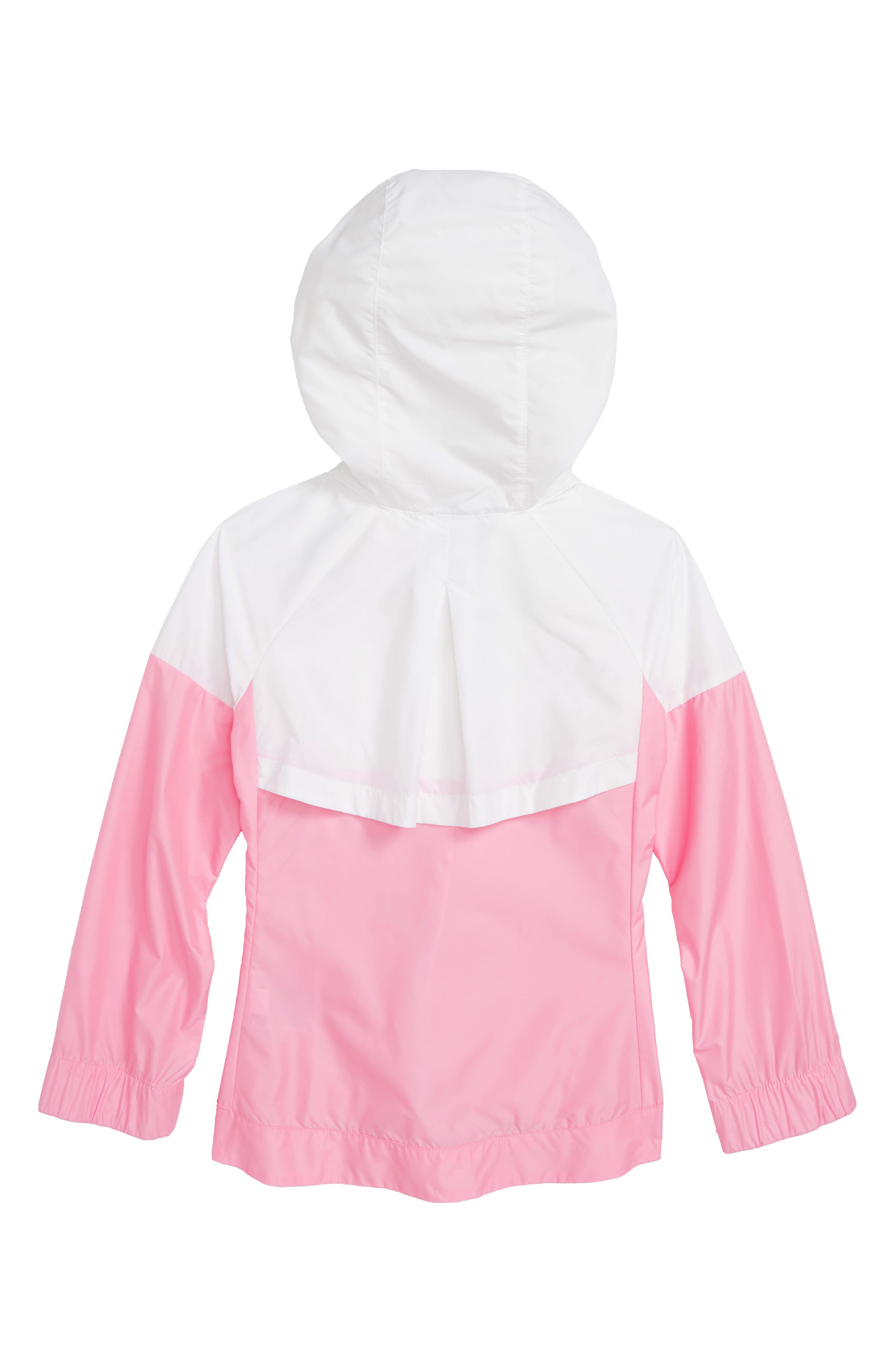 Sportswear Windrunner Jacket,                             Alternate thumbnail 2, color,                             White/ Pink/ Pink