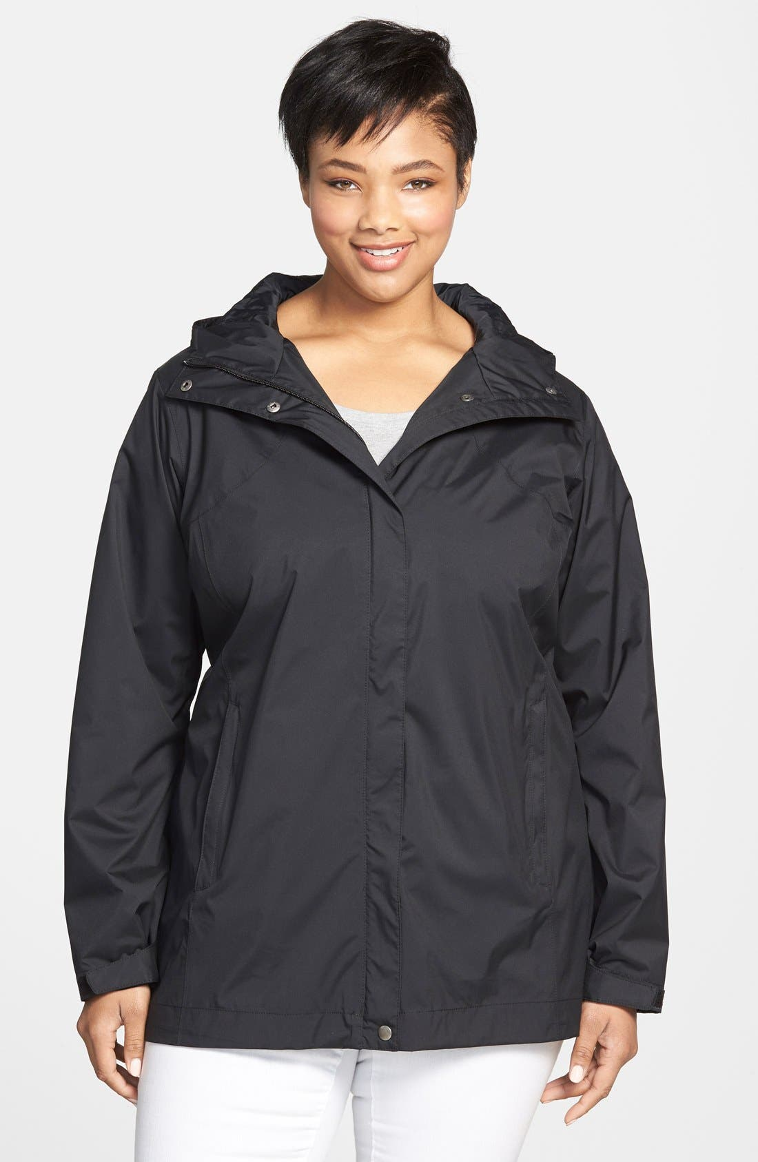 Columbia 'Splash a Little' Modern Classic Fit Waterproof Rain Jacket (Plus Size)