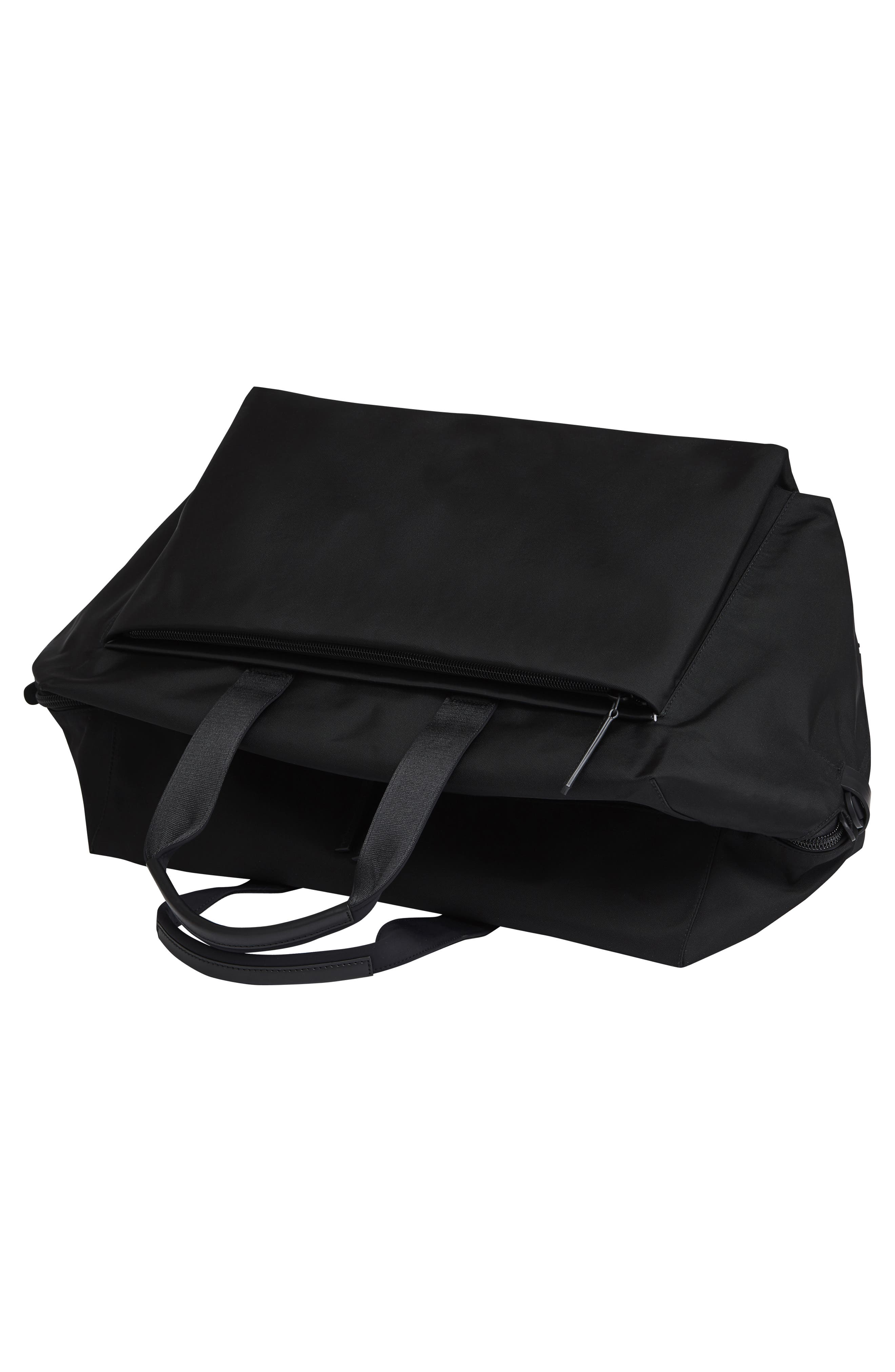 Lightweight Duffel Bag,                             Alternate thumbnail 2, color,                             Black Nylon/ Black Leather