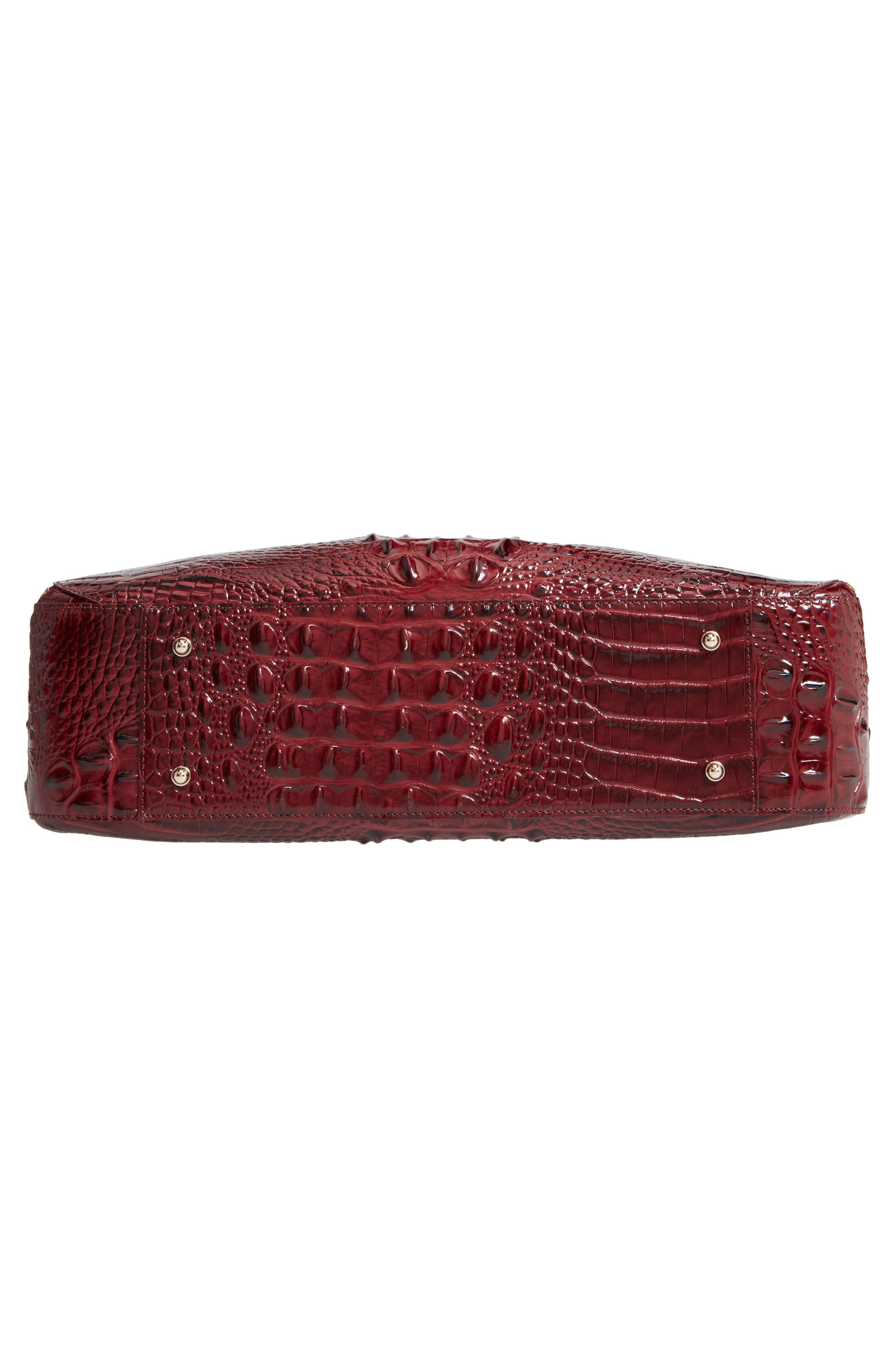 Melbourne - Adina Croc Embossed Leather Satchel,                             Alternate thumbnail 6, color,                             Tart