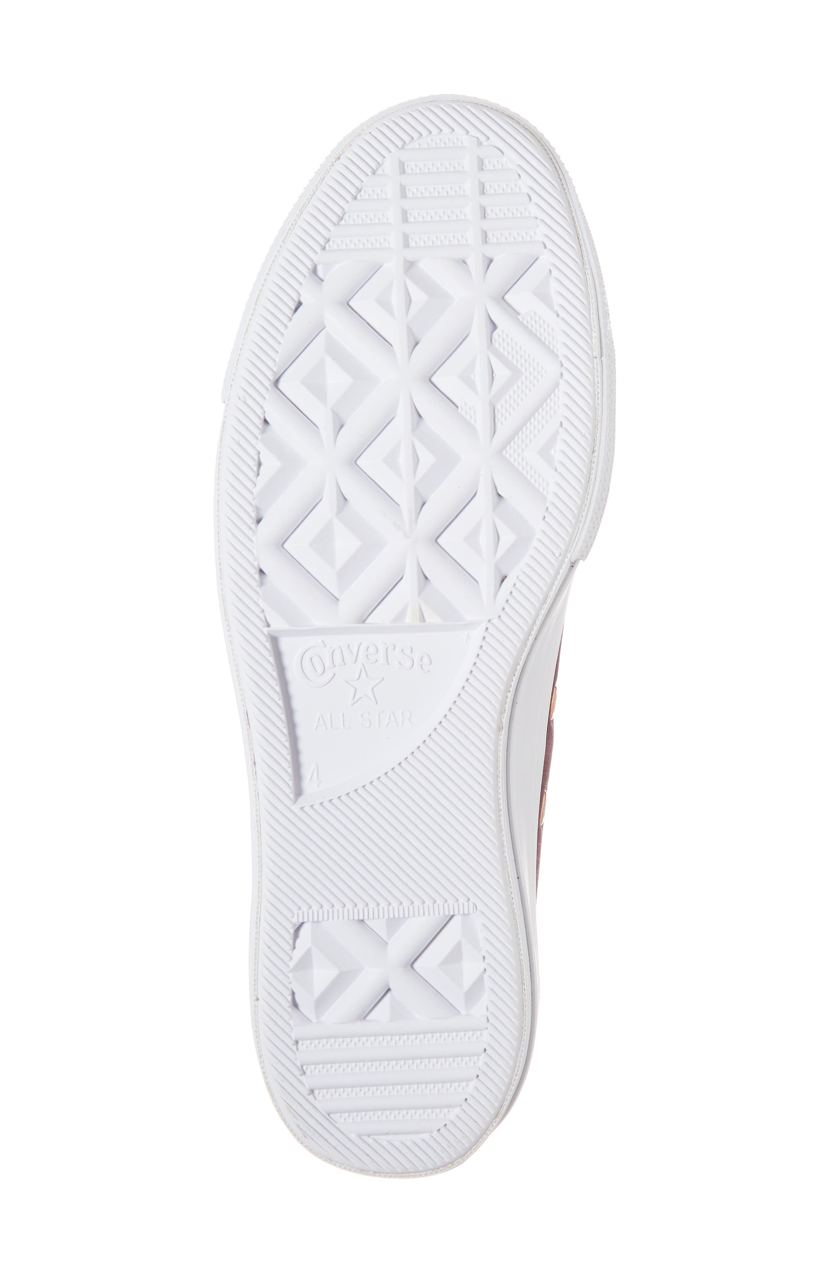 Chuck Taylor<sup>®</sup> All Star<sup>®</sup> Platform Sneaker,                             Alternate thumbnail 6, color,                             Dark Sangria Nubuck