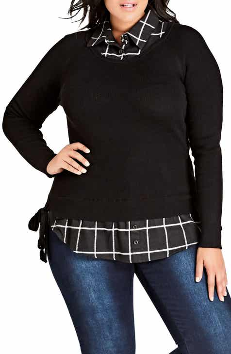 c43d1c5b88 City Chic Check Me In Sweater (Plus Size)
