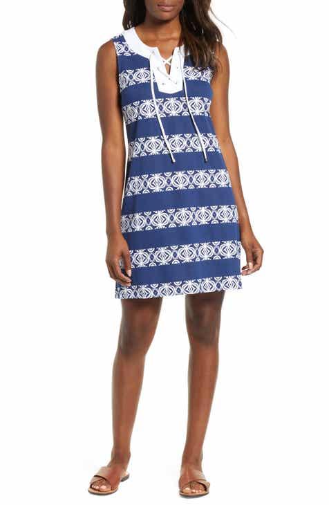 Tommy Bahama Bungalow Geo Stripe Shift Dress