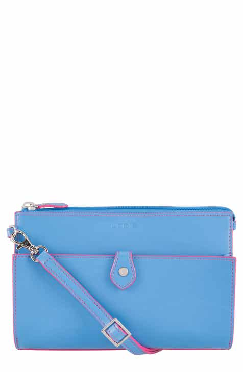 Lodis Los Angeles Audrey Under Lock Key Vicky Convertible Leather Crossbody Bag