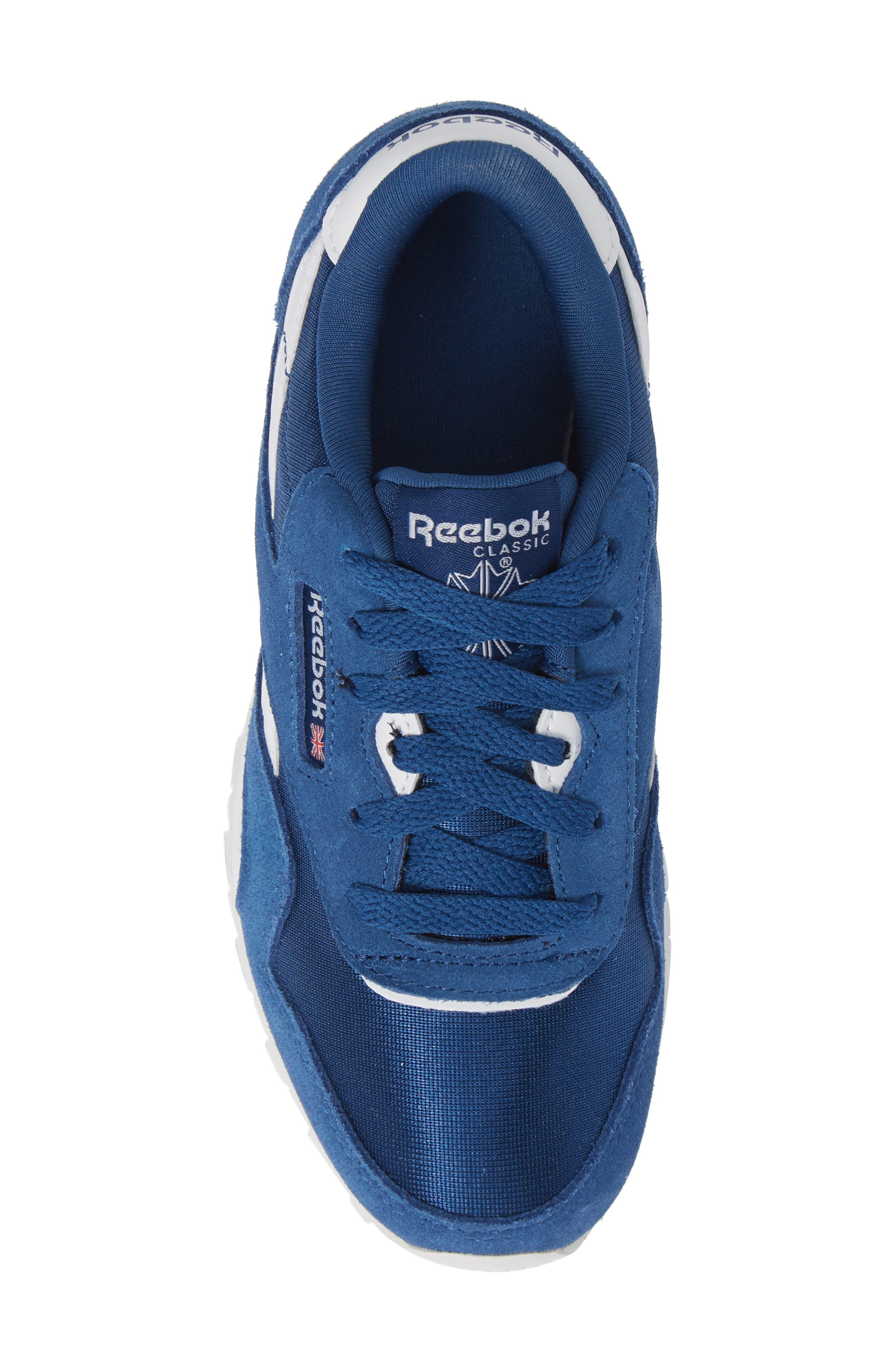 Classic Nylon Sneaker,                             Alternate thumbnail 5, color,                             Bunker Blue/ White