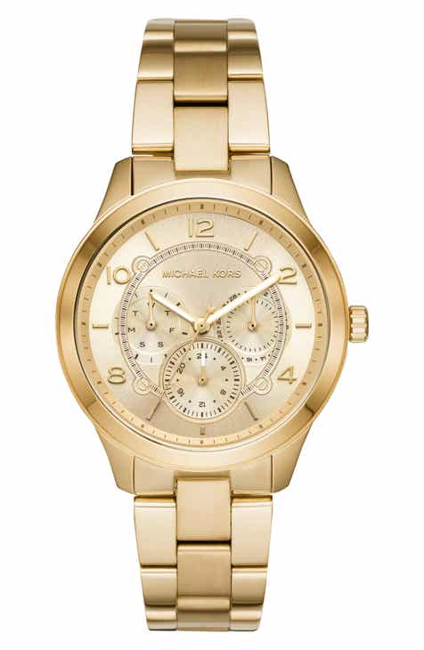 7085f1ea669a Michael Kors Runway Multifunction Bracelet Watch
