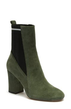 Yellow Suede Ankle Boots