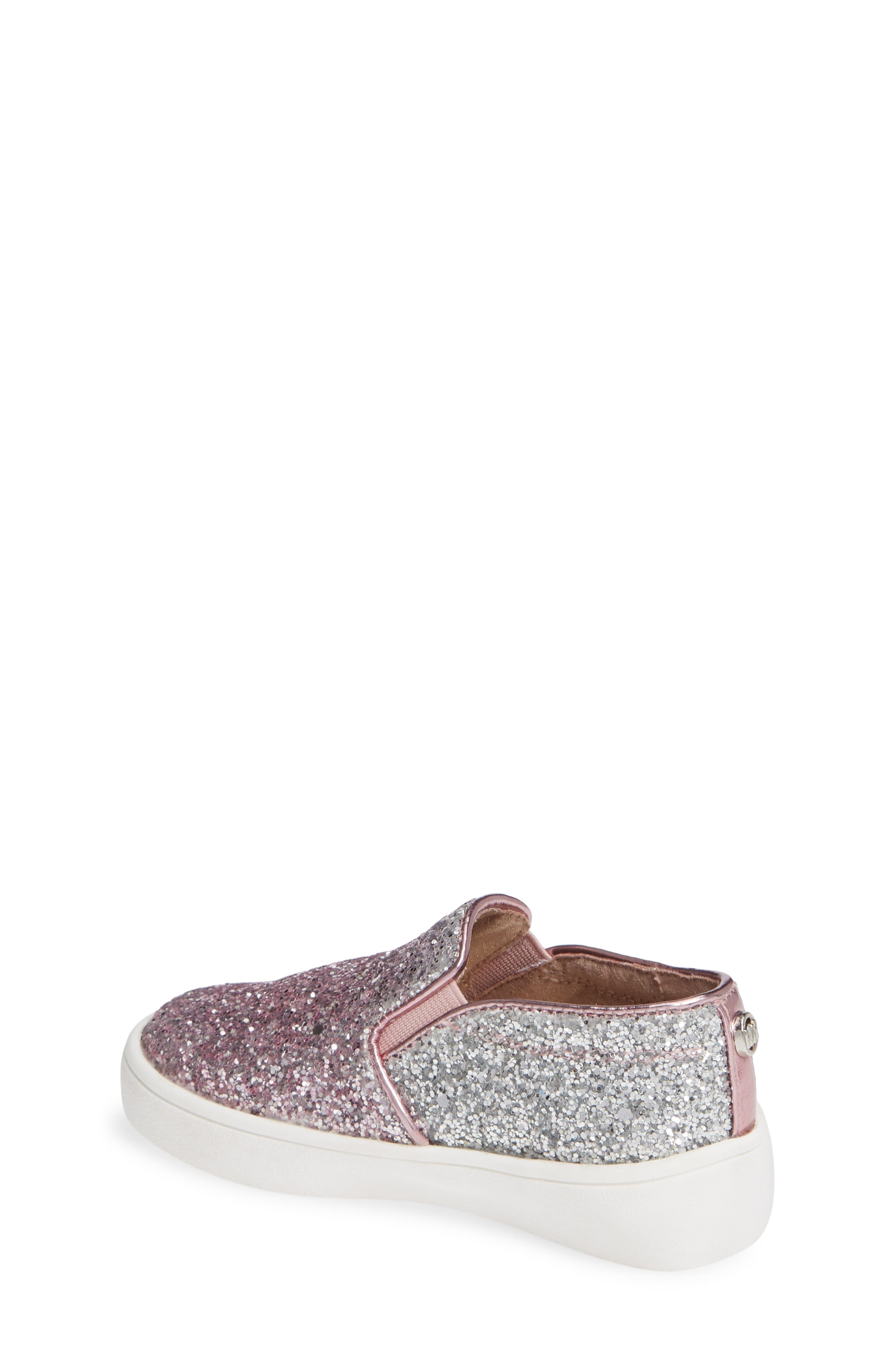 Ivy Ombré Glitter Slip-On Sneaker,                             Alternate thumbnail 2, color,                             Pink Silver