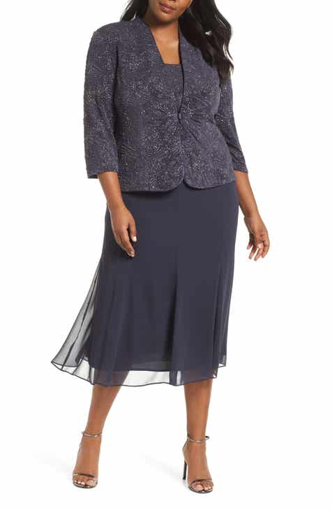 578bac1c91d85 Alex Evenings Mock Two-Piece Jacket Dress (Plus Size)