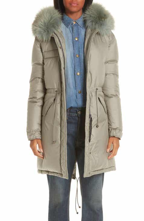 587a9b84f293 Mr   Mrs Italy Rosemary Genuine Fox Fur Trim Down Fill Puffer Coat