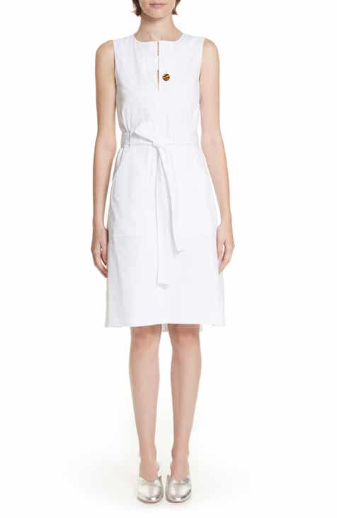 Rosetta Getty Belted Cotton Poplin Dress by Rosetta Getty