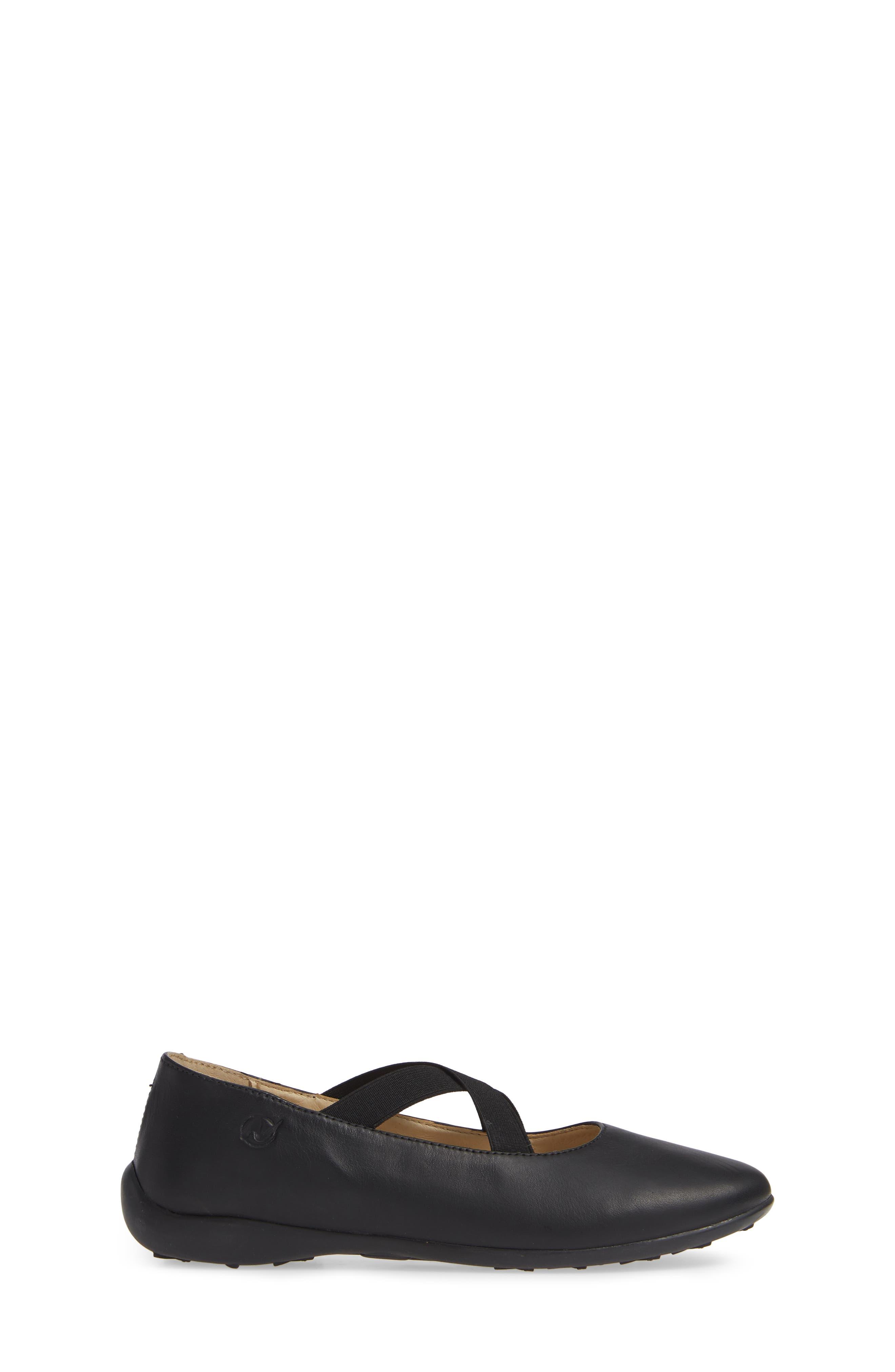 Matera Ballet Flat,                             Alternate thumbnail 4, color,                             Black Leather