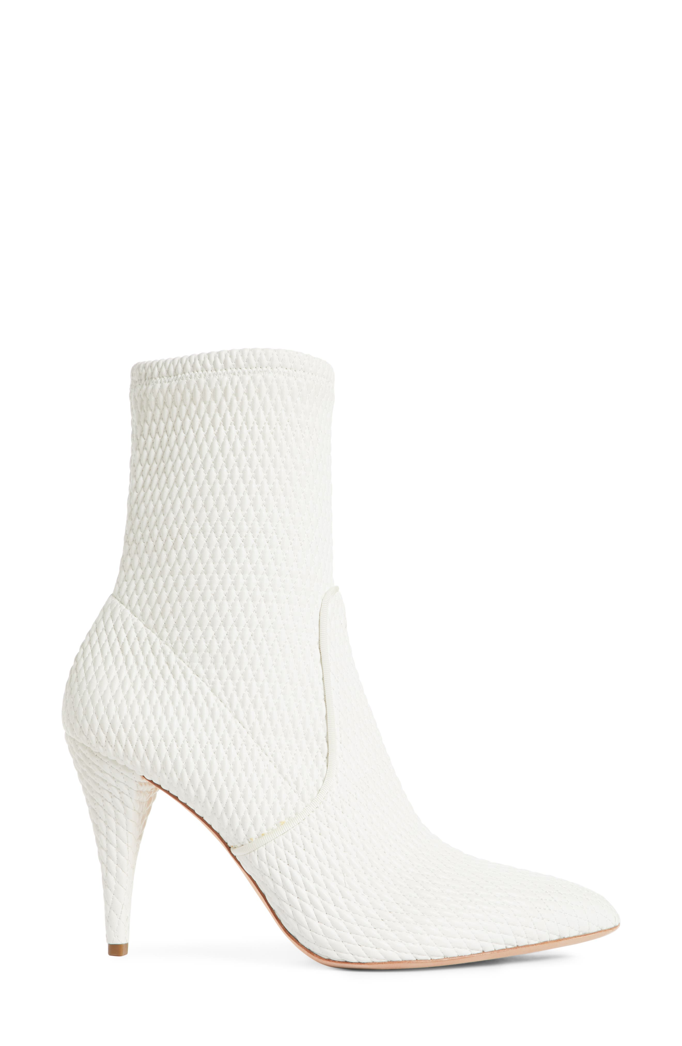 Hedde Pointy Toe Bootie,                             Alternate thumbnail 3, color,                             White