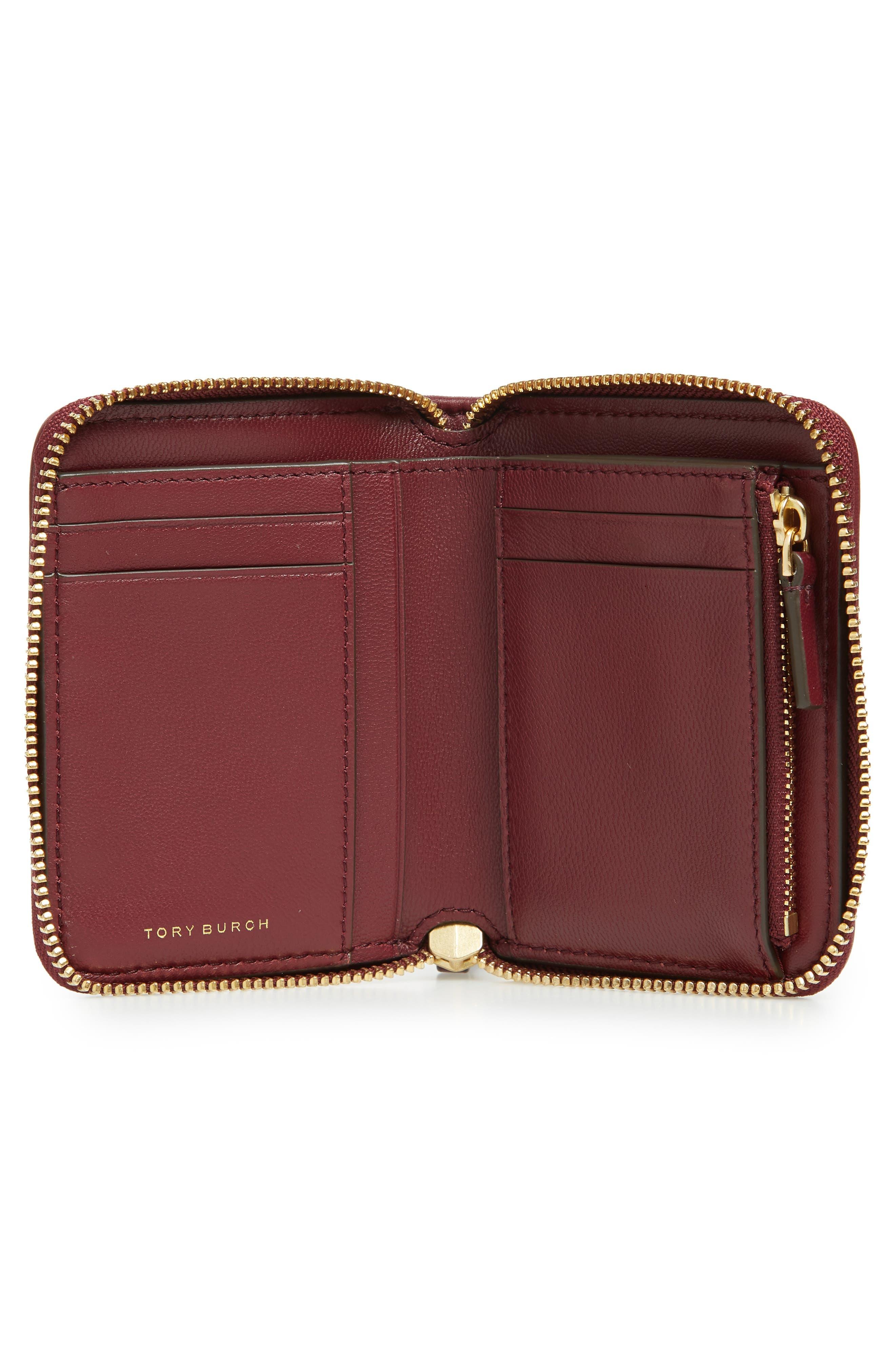 Fleming Medium Leather Zip Around Wallet,                             Alternate thumbnail 2, color,                             Imperial Garnet