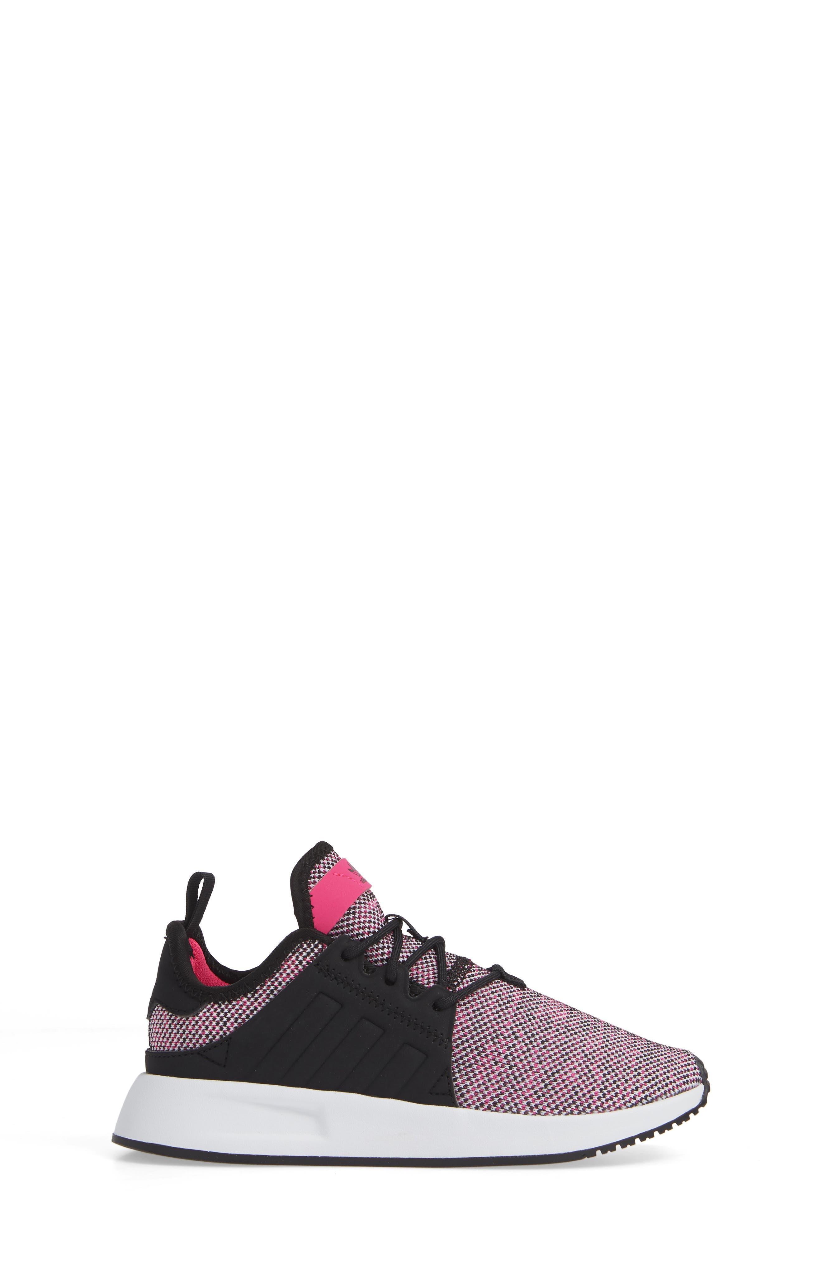X_PLR Sneaker,                             Alternate thumbnail 3, color,                             Shock Pink/ Black/ White