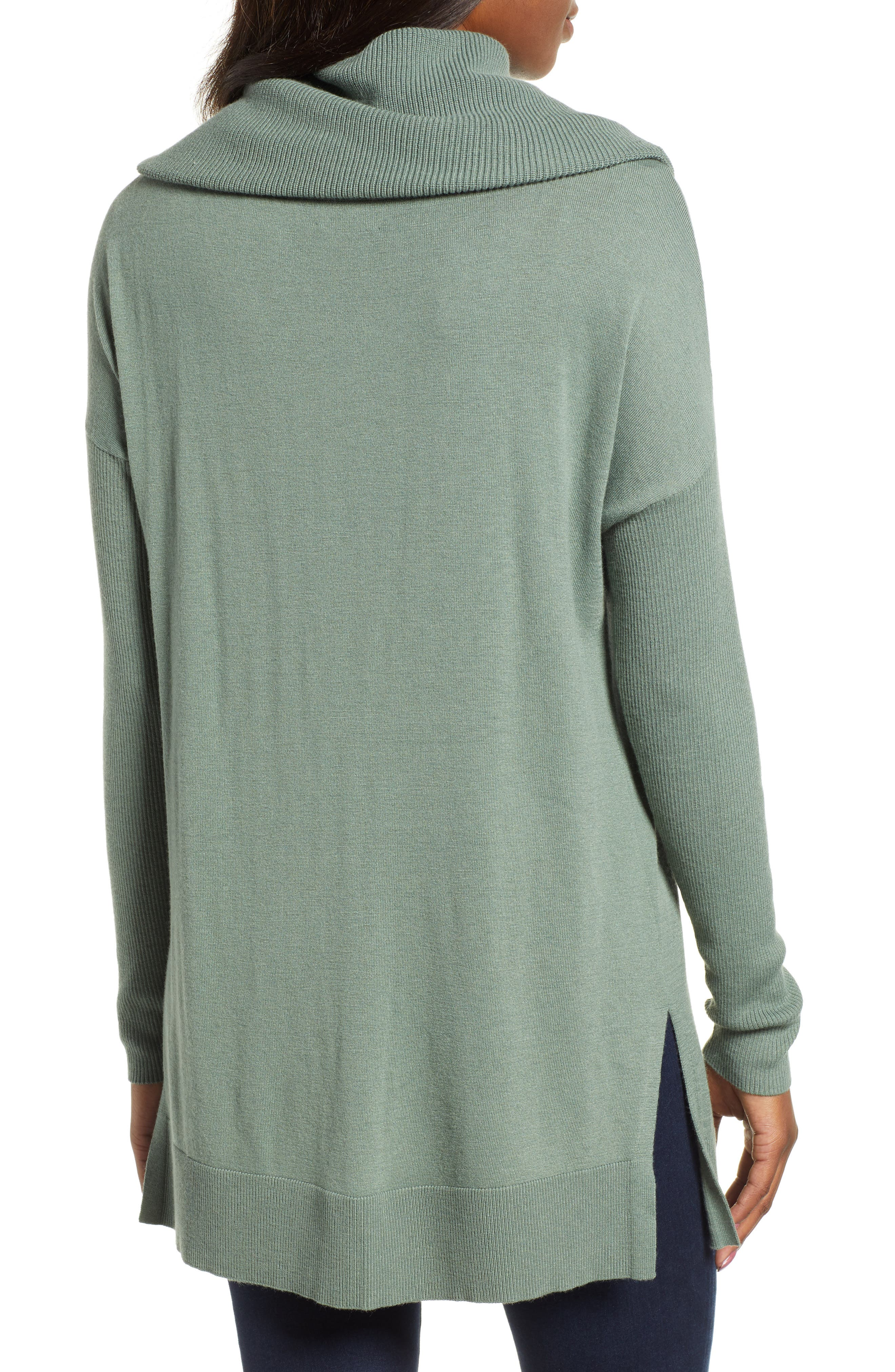 Womens Caslon Sweaters Nordstrom Tendencies Sweater Hoody Green Zipper Olive S