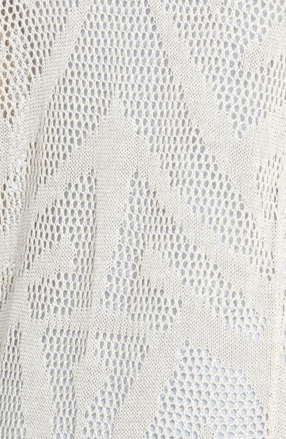 Alternate Image 3  - NIC+ZOE Long Textured Fringe Cardigan