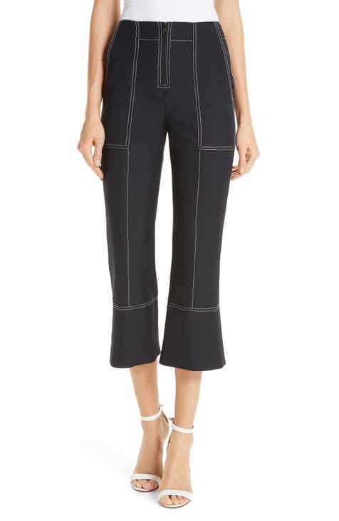Ming Wang Faux Leather Trim Leggings by Ming Wang