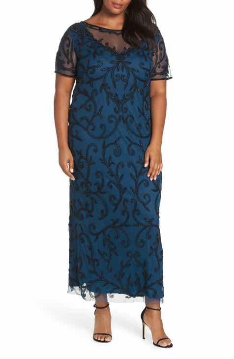 575ee7598ba Pisarro Nights Beaded Illusion Gown (Plus Size)