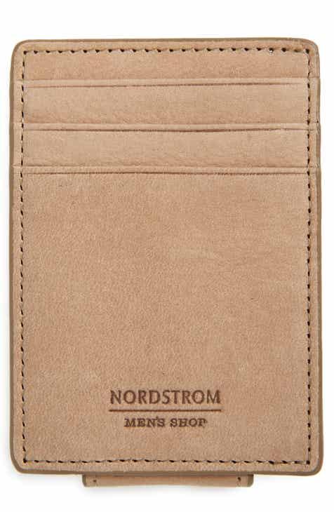 nordstrom mens shop upton rfid leather money clip card case - Mens Money Clip Credit Card Holder