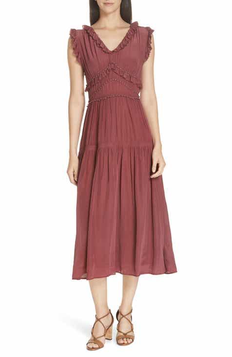 b0c1840a045 Sea Hemmingway Ruffle Midi Dress