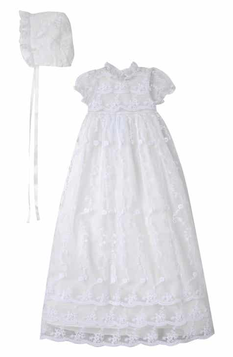 4b79ff64e Laura Ashley Embroidered Gown with Bonnet (Baby Girls)