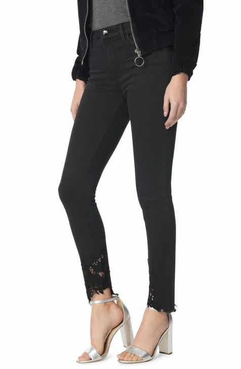c14bc77c375c5 Sam Edelman The Stiletto High Waist Lace Hem Ankle Skinny Jeans (Charlie)
