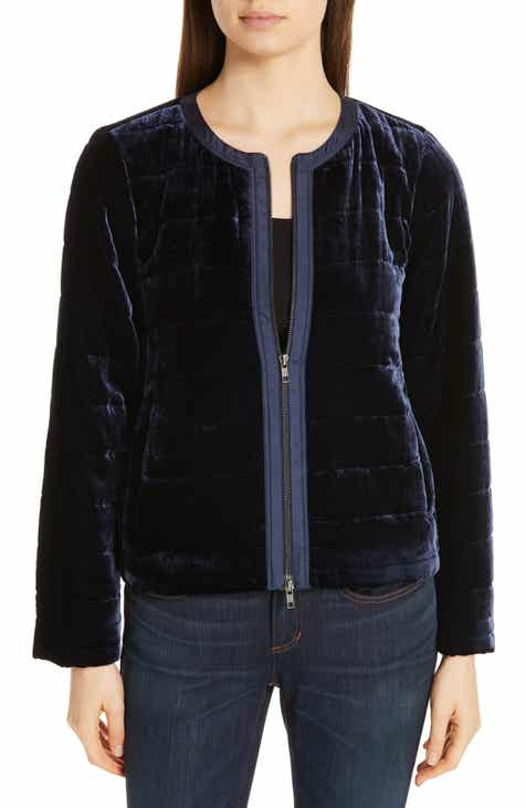 817265e6bfdae Eileen Fisher Quilted Velvet Jacket (Regular   Petite)