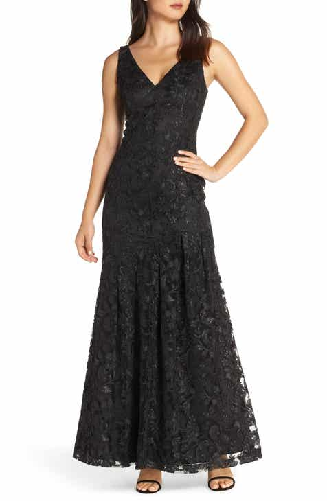 7f0bb83fd66 Vince Camuto Lace Asymmetrical Gown