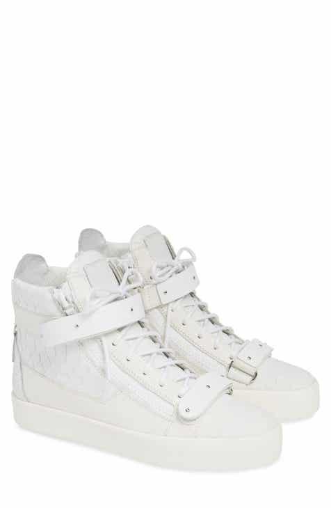 4454efbf505 Giuseppe Zanotti Gold Bar High Top Sneaker (Men)