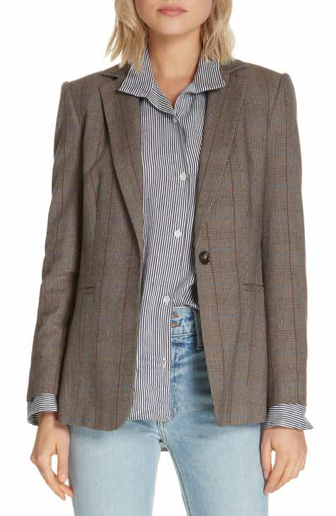 FRAME Plaid Wool Blend Blazer by FRAME DENIM