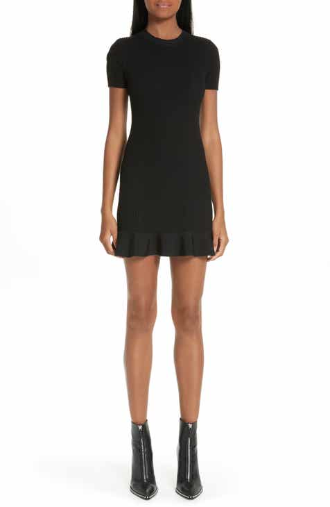 Alexander Wang Ruffle Hem Ribbed Dress 358d4d0b2