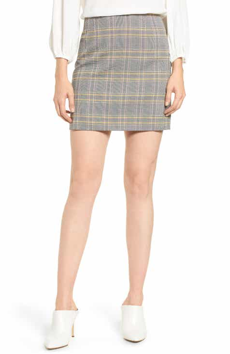 1.STATE Menswear Plaid Miniskirt