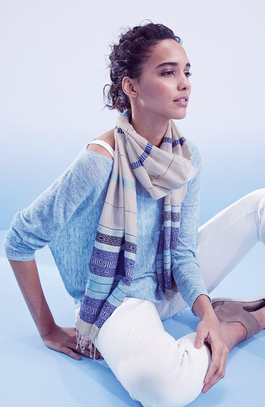 Alternate Image 4  - Eileen Fisher Linen Asymmetrical Top (Regular & Petite) (Online Only)