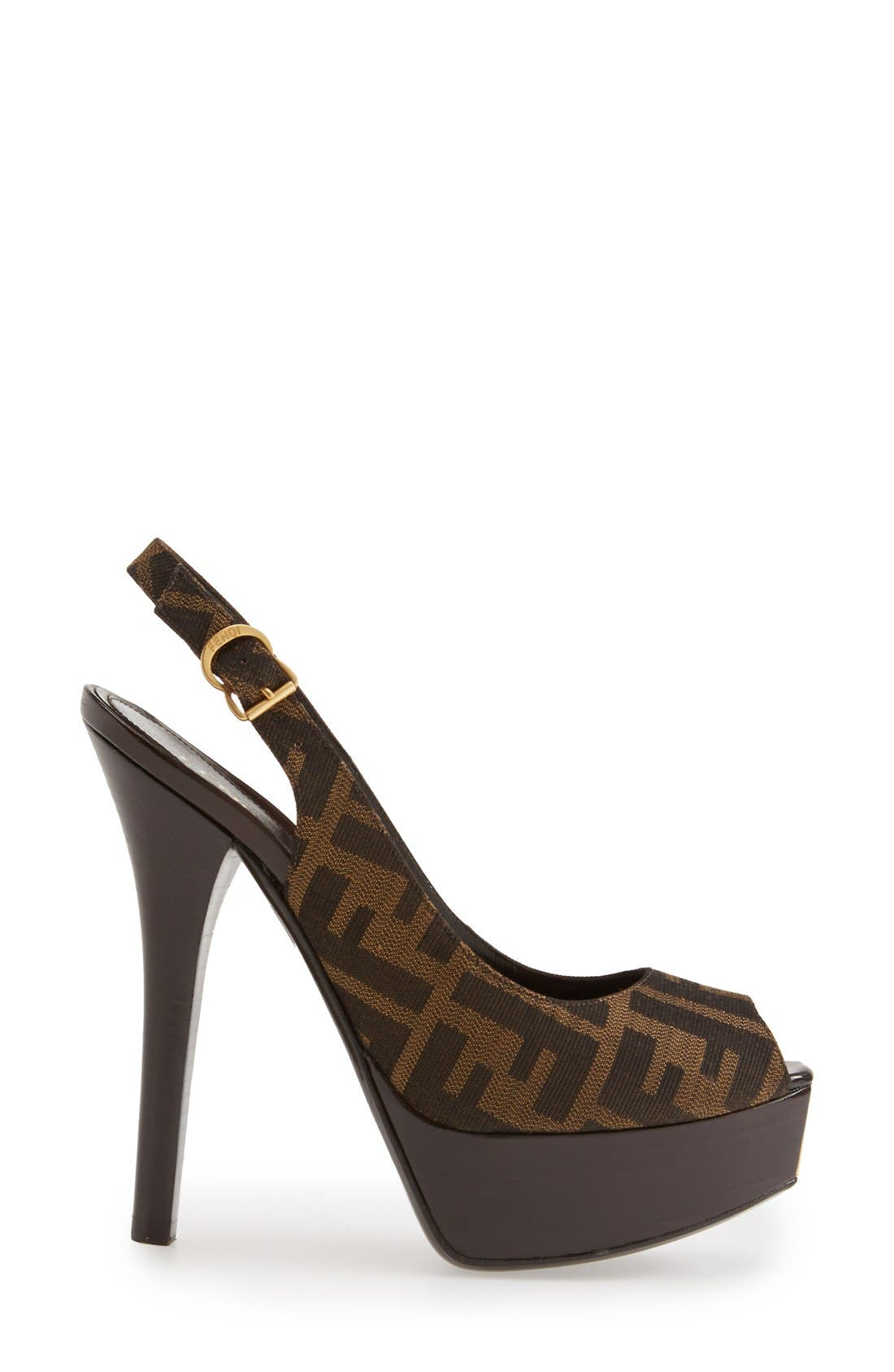 Alternate Image 4  - Fendi 'The Fendista' Platform Pump