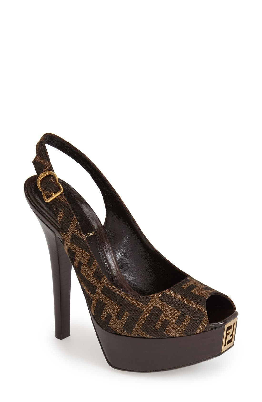 Alternate Image 1 Selected - Fendi 'The Fendista' Platform Pump