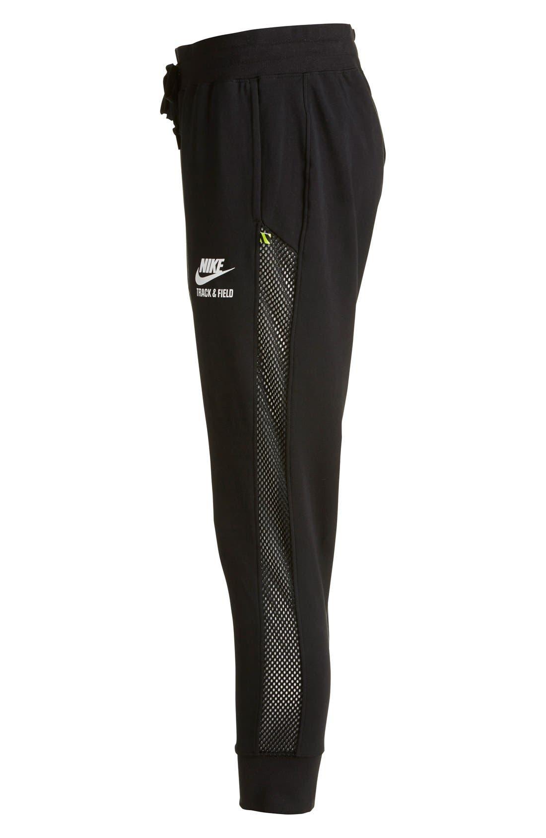 Alternate Image 3  - Nike 'RU Mesh Mix' Cuffed Sweatpants (Women)