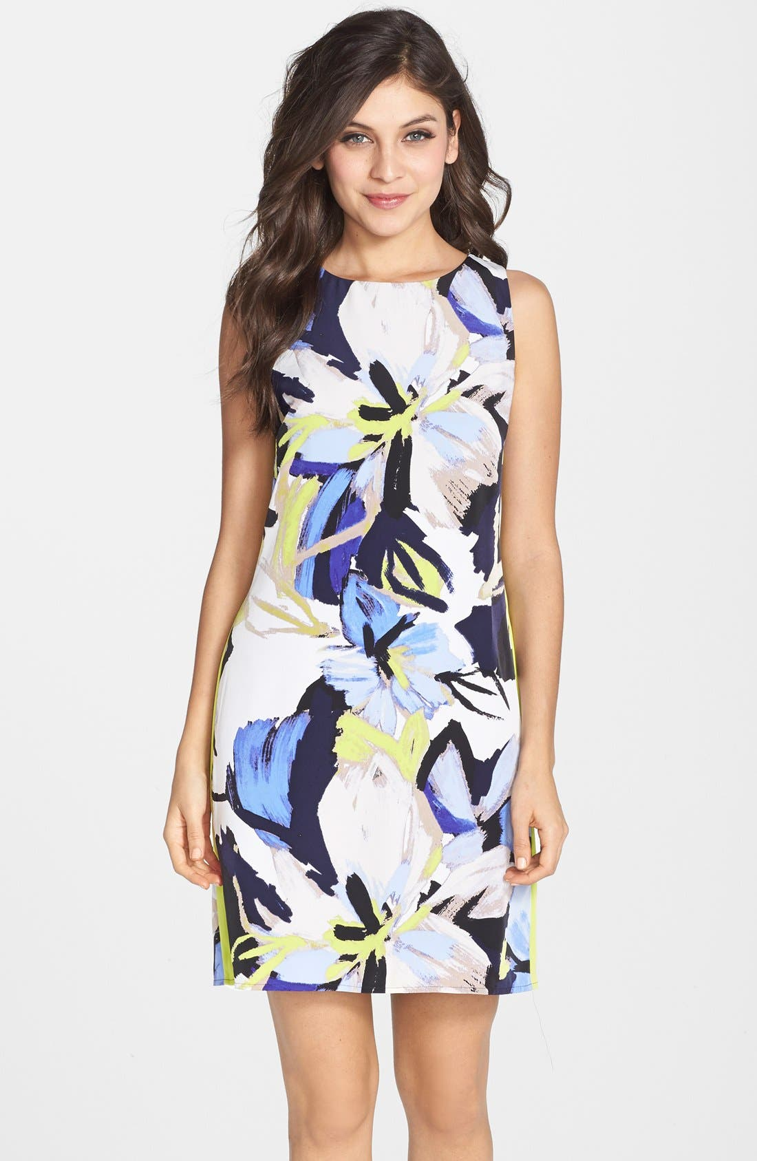 Alternate Image 1 Selected - Vince Camuto Floral Print Shift Dress