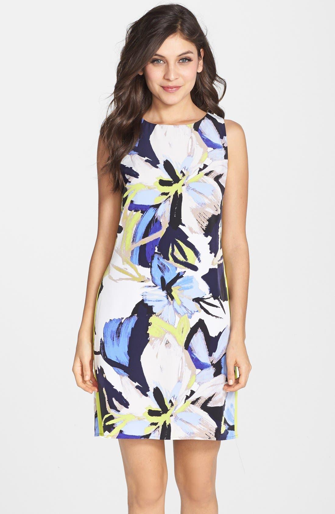 Main Image - Vince Camuto Floral Print Shift Dress
